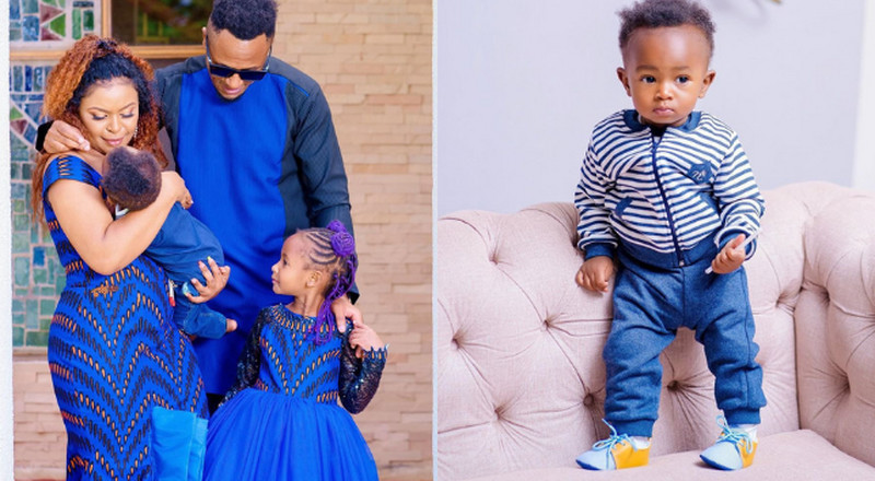 "Size 8 & DJ Mo over the moon as their ""Miracle Baby"" turns 1-year-old"