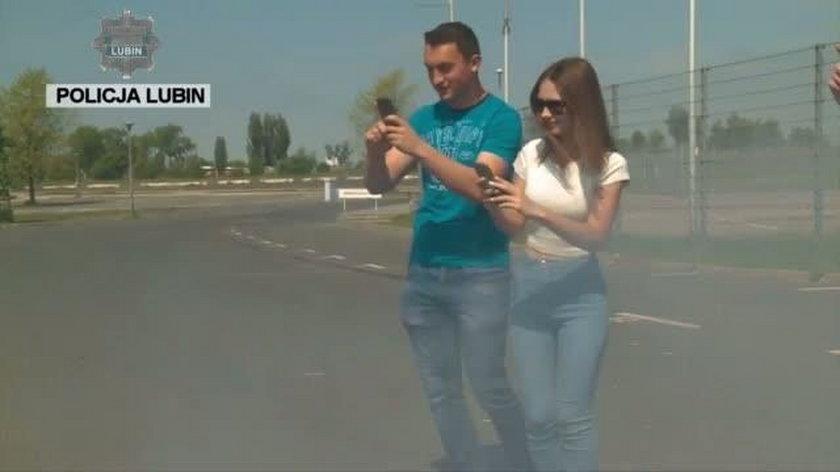 Spot nagrany przez policję w Lubinie