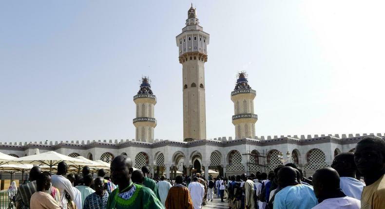 Magal de Touba des fidèles à la grande mosquée