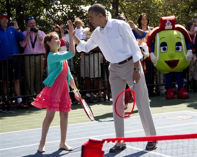Prezydent robi pompki i...