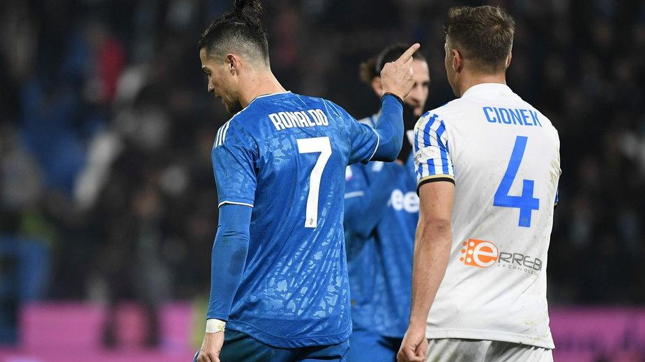 Cristiano Ronaldo i Thiago Cionek