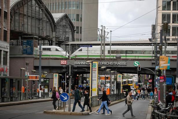 Stacja Friedrichstrasse w Berlinie, 22.09.2021, Niemcy