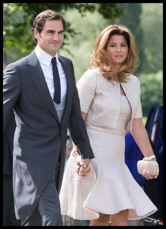 Rodžer i  Mirka Federer, gosti u centri pažnje