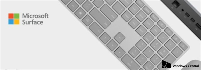 Microsoft Surface Keyboard na renderze