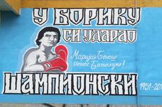 Marijan Benes mural Banjaluka