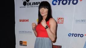 Ewa Brodnicka na konferencji prasowej Polsat Boxing Night