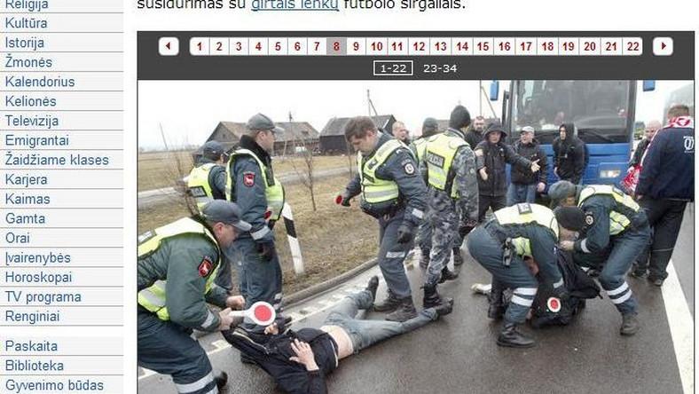 Polscy kibole zatrzymani na Litwie