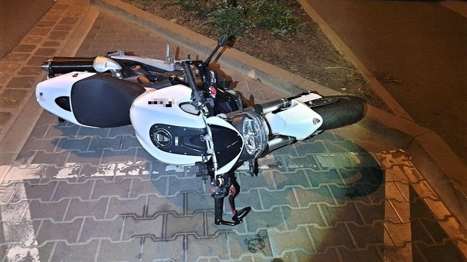 Jeden z uszkodzonych motocykli