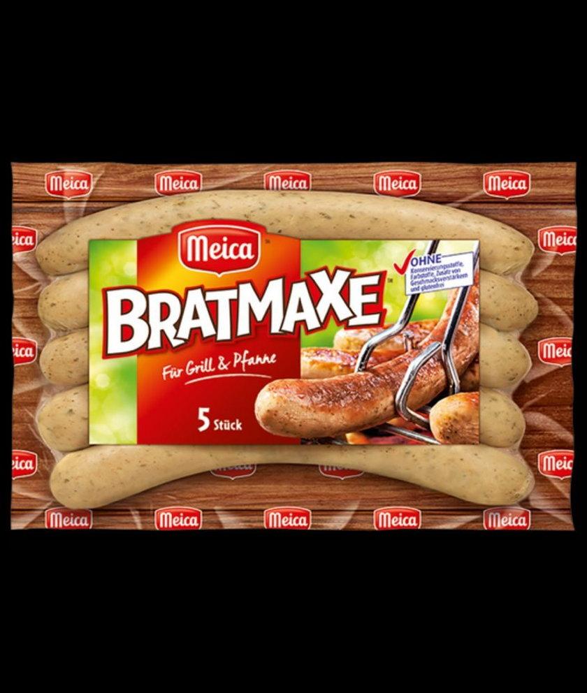 Kiełbaski Bratmaxe 5 sztuk, 313 g to produkt wycofywany z oferty sieci Auchan,