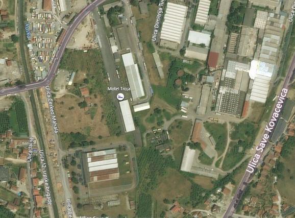 Pogled na parcele iz vazduha