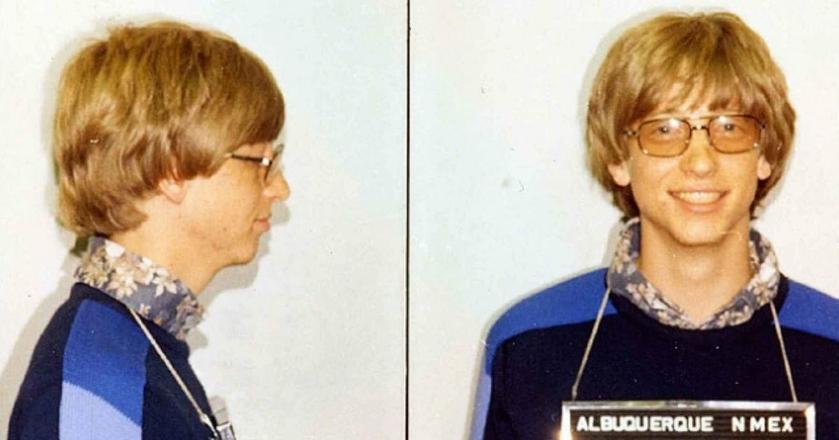 Zdjęcie policyjne Gatesa z 1977 roku, gdy miliarder znacznie przekroczył prędkość