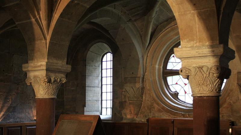 Wnętrze opactwa w Wąchocku