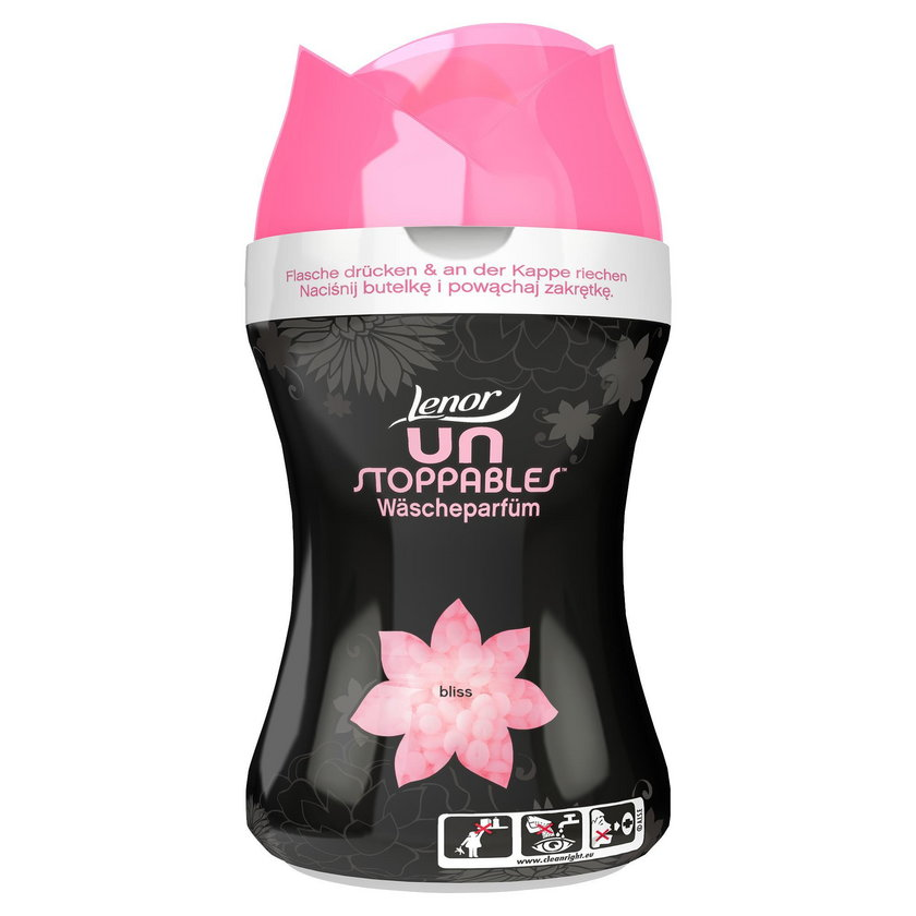 Perełki zapachowe Lenor Unstoppables dostępne są w 4 orzeźwiających zapachach.