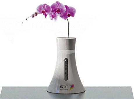Bezprzewodowy router, w którym kwitną kwiaty