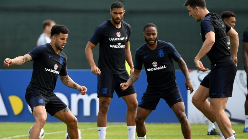 Chelsea's Ruben Loftus-Cheek (second left) backed England team-mate Raheem Sterling's (second right) stance on racist abuse