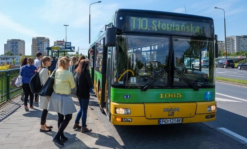 Zastępcza linia T10 jeździ już między Winogradami a centrum