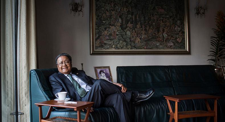 Kenyan born businessman Dr. Manu Chandaria, Chair and CEO of Comcraft Group