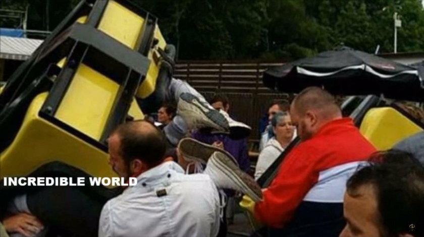 Wypadek kolejki górskiej w parku rozrywki w Szkocji