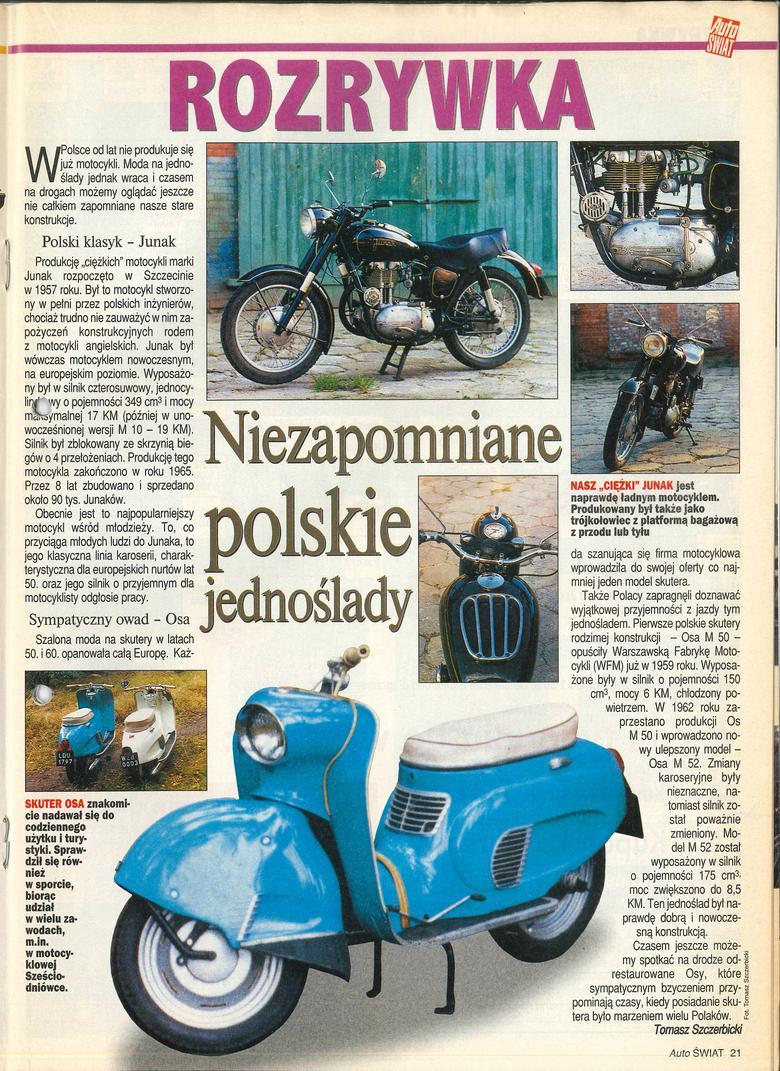 Niezpomniane polskie motocykle