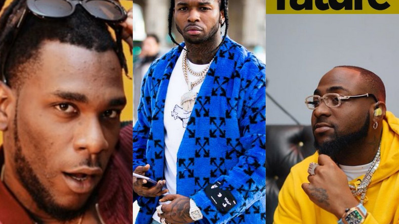 Burna Boy and Davido reportedly set to feature on Pop Smoke's posthumous album which drops on Friday. (Twitter/MusicRature)