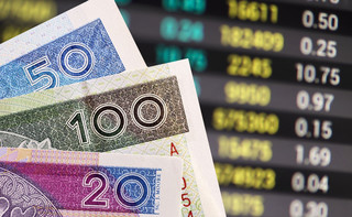 Słabsze notowania złotego. Powodem mocny dolar i problemy w Turcji