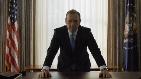 "Kadr z serialu ""House of Cards"""