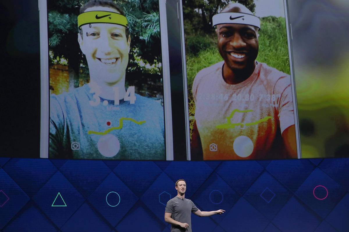 Mark Zuckerberg prezentuje platformę Camera Effects. Aplikacja Nike pozwala na przykład na dzielenie się swoimi wynikami ze znajomymi