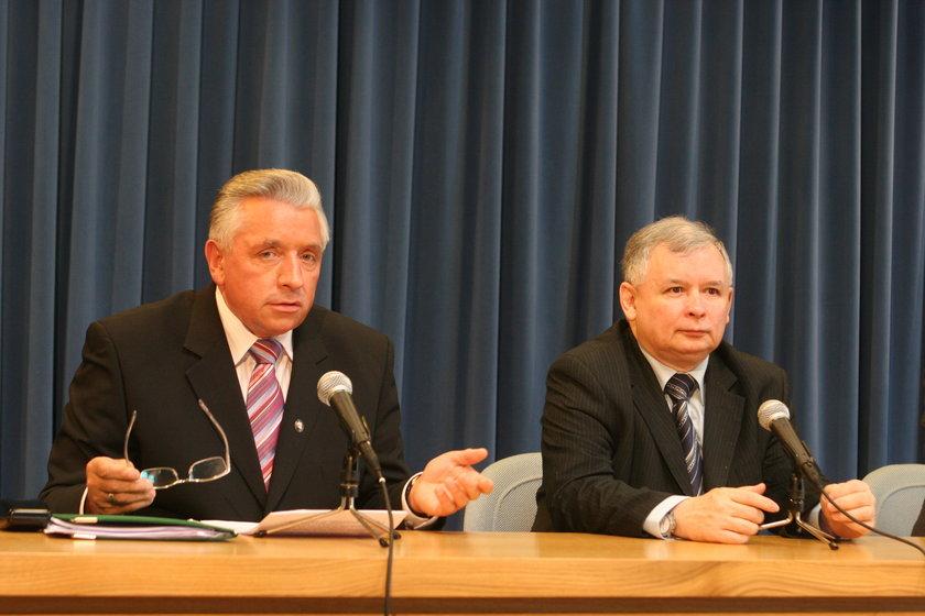 Jarosław Kaczyński i Andrzej Lepper