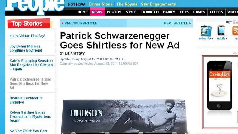 Patrick Schwarzenegger w reklamie jeansów