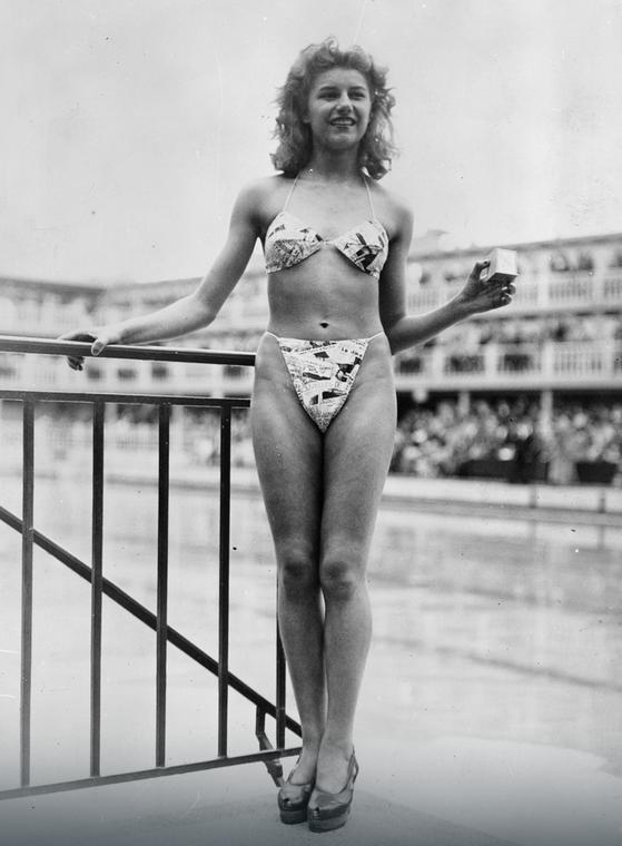 Micheline Bernardini w bikini, 1946 r.