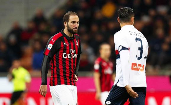 Gonzalo Iguain u janura neće imati nove saigrače u Ligi Evrope, pošto će UEFA kazniti Milan zabranom registrovanja fudbalera