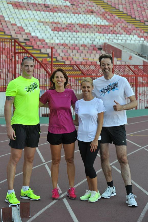 Atletičar Igor Šarčević, Maja Žeželj, Bojana Odrinačev i Inspektor Blaža
