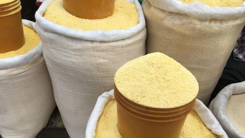 A bag of garri previously selling at N14,000 is now selling at N22,000 in Enugu. (Olist)