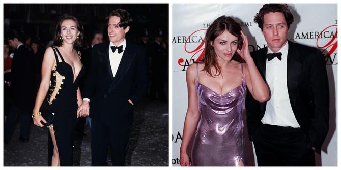 Elizabet Herli sa Hjuom Grantom 1994. i 1999. godine