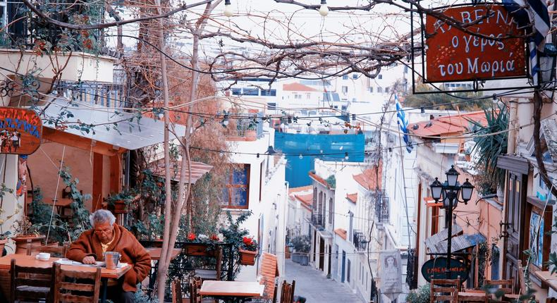 A street in Athens, Greece.