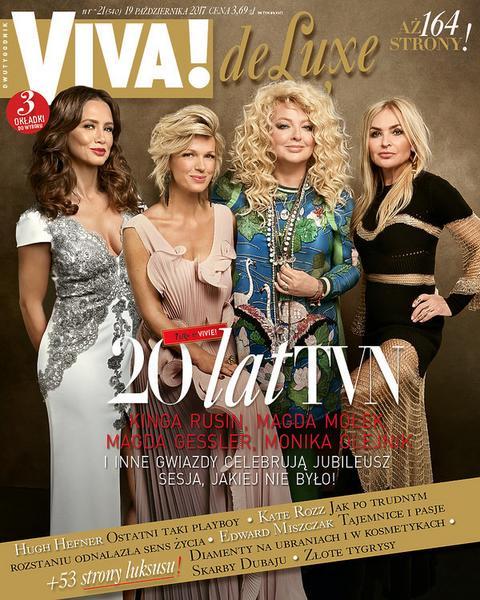 "Kinga Rusin, Magda Mołek, Magda Gessler i Monika Olejnik na okładce magazynu ""VIVA!"""