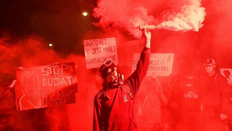 Uczestnicy protestu pod hasłem Na Warszawę!