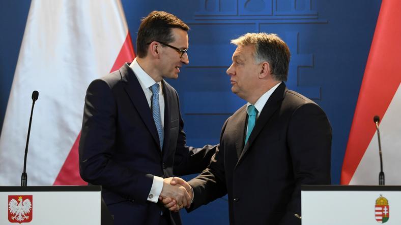 Viktor Orban podczas spotkania z Mateuszem Morawieckim