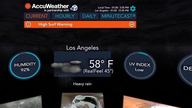 AccuWeather - prognoza pogody w technologii VR