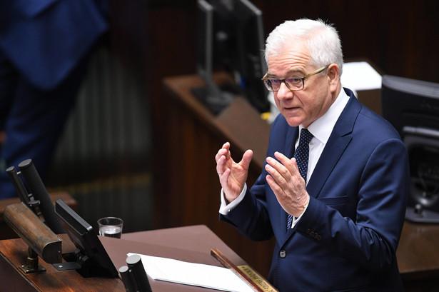 Jacek Czaputowicz, szef MSZ, wygłasza expose dotyczące polityki zagranicznej rządu w 2018 roku