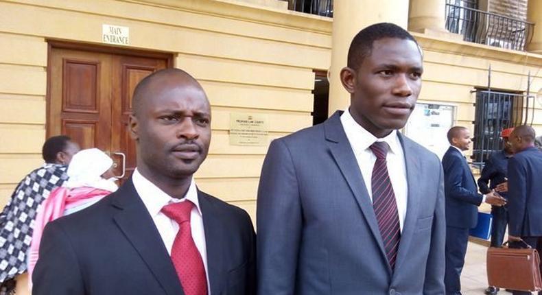 KMPDU Chairman Samuel Oroko and Secretary-General Ouma Oluga
