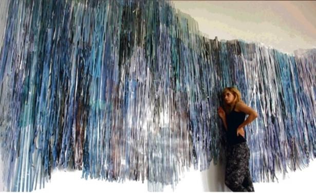 Cyklowi obrazów Klaudii Zawady towarzyszy specjalna instalacja