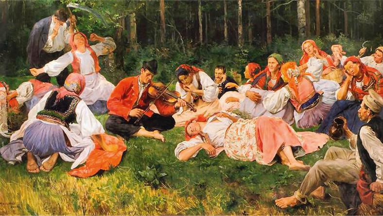 """""""Grajek"""", obraz Wincentego Wodzinowskiego z 1893 r."""
