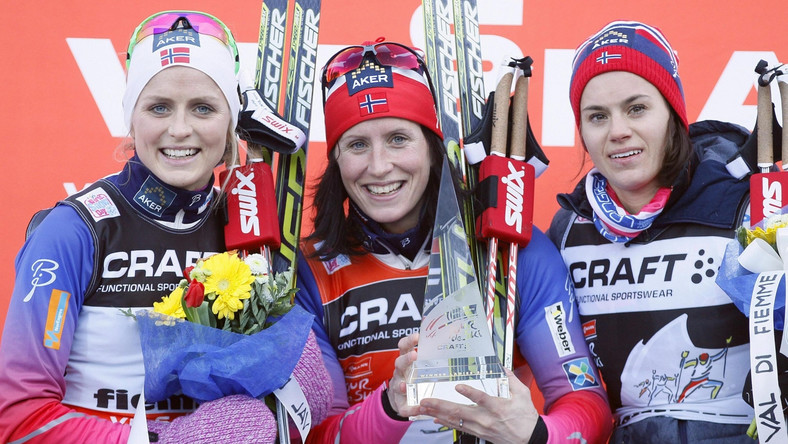 Marit Bjoergen, Therese Johaug i Heidi Weng