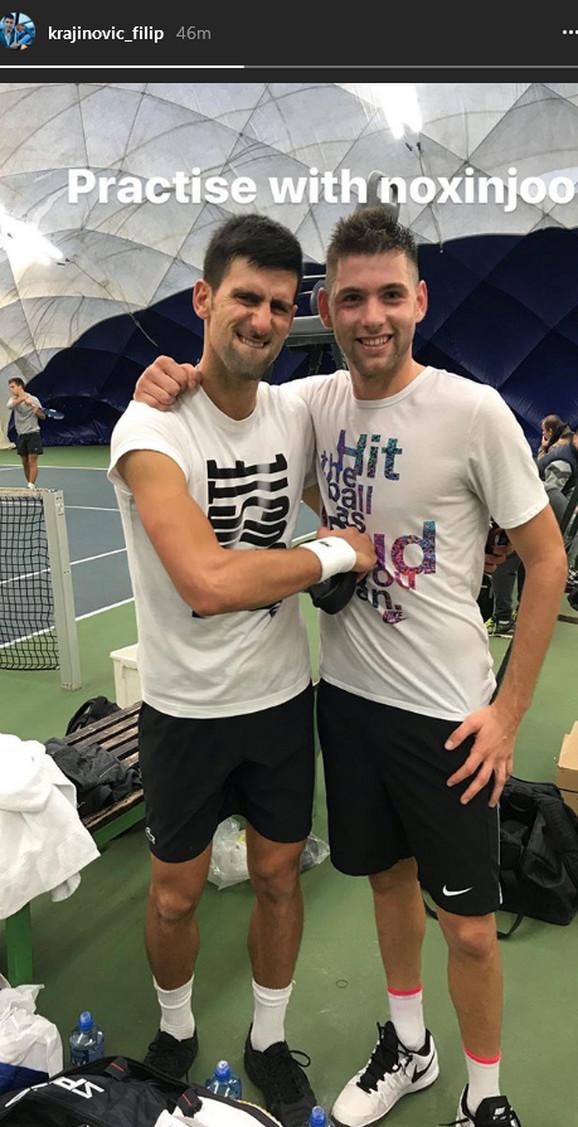 Filip Krajinović i Novak Đoković će, kao nekada, ponovo sparingovati