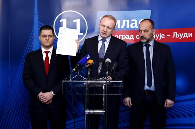 Vuk Jeremić, Dragan Đilas i Saša Janković