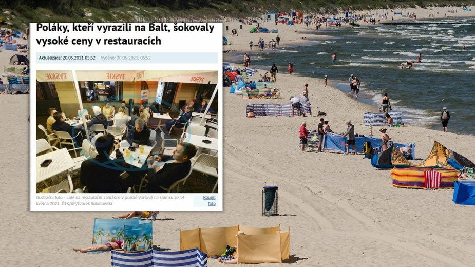 Czeskie media opisują ceny nad Bałtykiem w Polsce