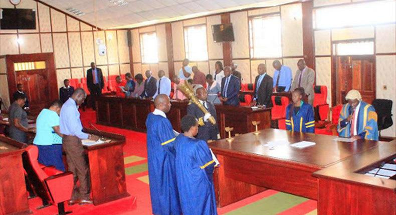 County Assembly in session