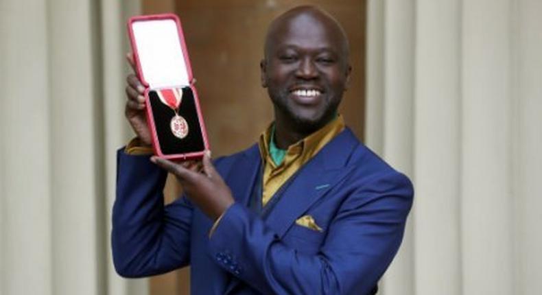 Sir David Adjaye receives his knighthood on behalf of HM Queen Elizabeth II