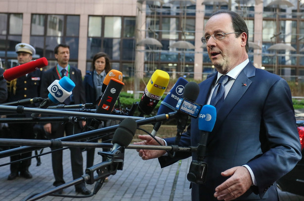 Francois Hollande w Brukseli. Fot. EPA/JULIEN WARNAND/PAP/EPA